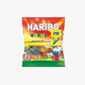 SOUR WORMS HARIBO 150G
